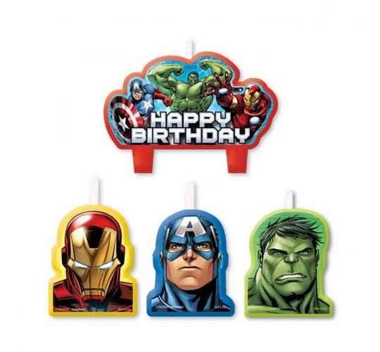 Wholesale Joblot of 20 Amscan Marvel Avengers Assemble Birthday Candles (4 Pack)