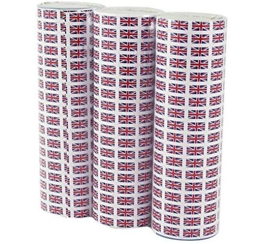 Wholesale Joblot of 36 Amscan GB Union Jack Streamers (18 Throws, 3 Rolls)
