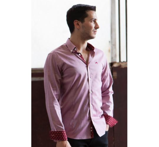 Wholesale Joblot of 10 Freddie Parker Mens Claret Slim Fit Shirt Sizes S-XXL