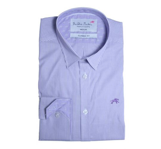 Wholesale Joblot of 10 Freddie Parker Mens Lilac Stripe Classic Fit Shirt S-XXL