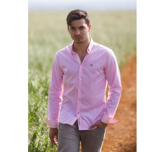 Wholesale Joblot of 10 Freddie Parker Mens Slim Fit Pink Shirt Size S-XXL