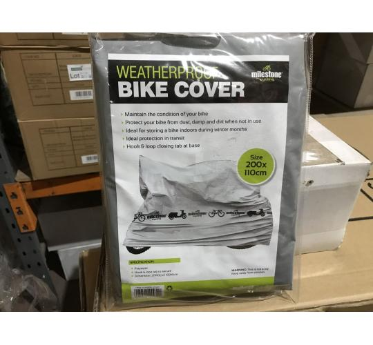 Weatherproof Bike Covers Strong Durable Waterproof - 12 Units - 1 Lot Only