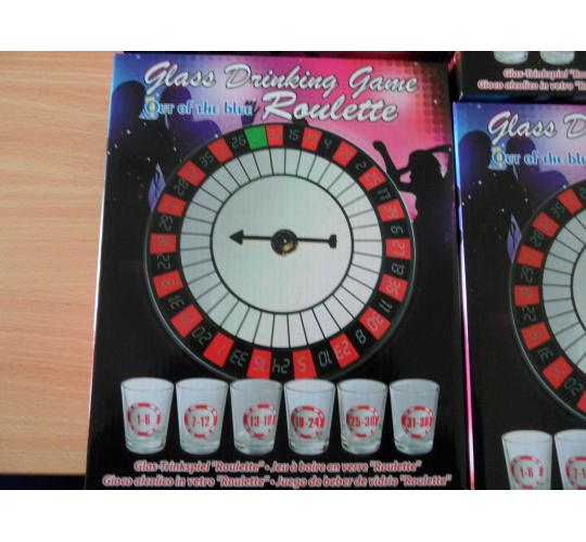 Joblot of 12 x Roulette Glass Drinking Game - Spin & Shot Casino - Glasses Party Wheel - Stag Hen Do's - Alcohol Fun Glass Set - Adult 18+ - Party Nov