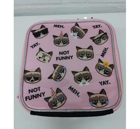 Job Lot 8 Children's Grumpy Cat Lunch Bag