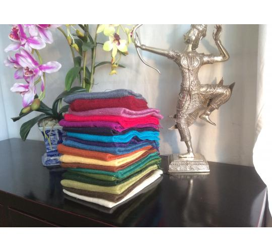 Joblot of 100pcs Beautiful, elegant handmade 100% Raw Matte Eri Course weave Silk Scarf Shawl from Thailand