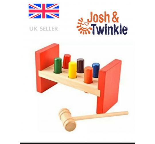 Joblot Hammer wooden bench toy x 10