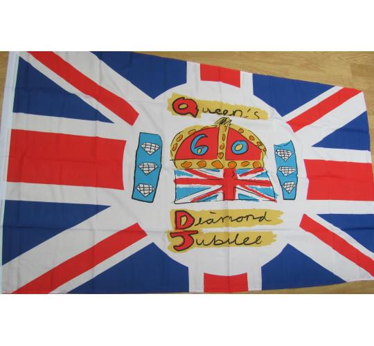 25 x large polyester Jubilee flags 5ft x 3ft