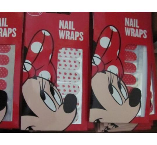 470 x Genuine Disney Minnie mouse nail wraps in 2 designs