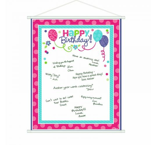 Wholesale Joblot of 30 Amscan Happy Birthday Scroll Sign-in Sheet 48.2 x 60.9cm