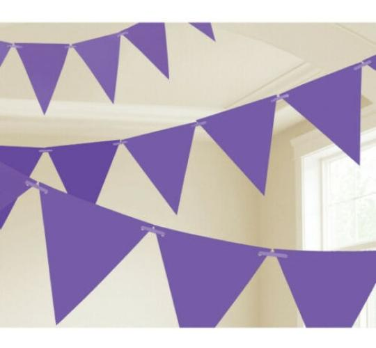 Wholesale Joblot of 42 Amscan Purple Party Pennant Banner 24 Flags 4.5m