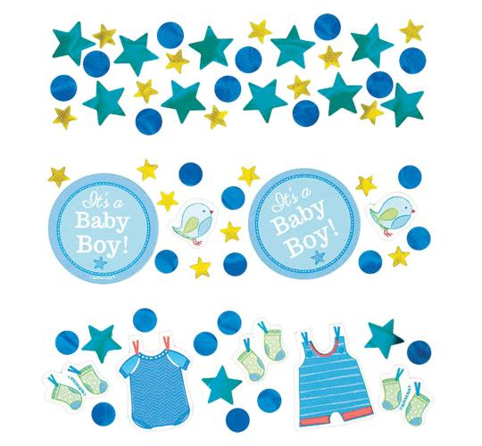 Wholesale Joblot of 36 Amscan It's a Baby Boy Blue Confetti Pack 34g