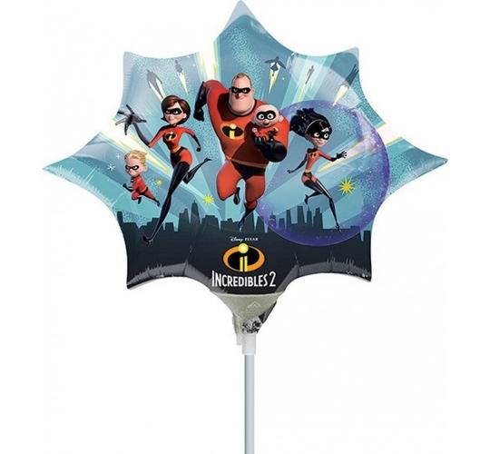 Wholesale Joblot of 100 Amscan Disney Pixar Incredibles 2 Foil Balloon 14""