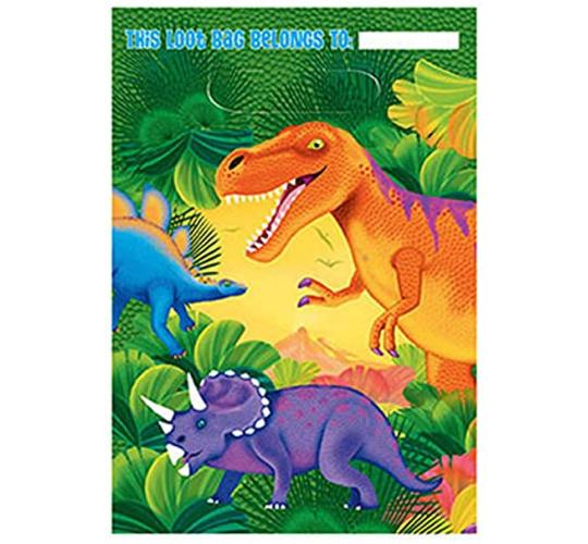 Wholesale Joblot of 80 Amscan Dinosaur Party Loot Bags (Pack of 8)
