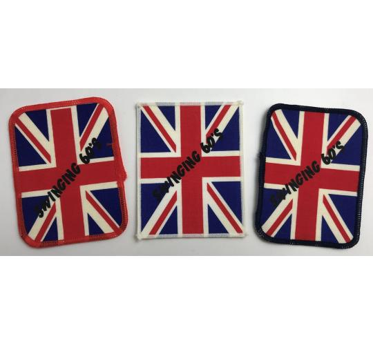Wholesale Joblot of 200 Swinging 60's Union Jack Clothes Patch 10 x 7.5cm