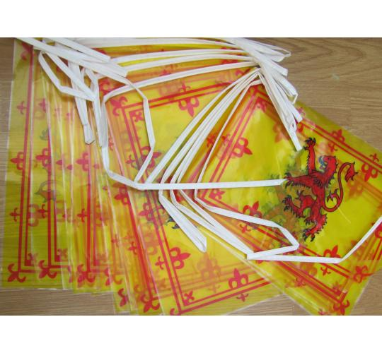 50 Packs of Scottish Rampant lion flag bunting.  Football Rugby etc