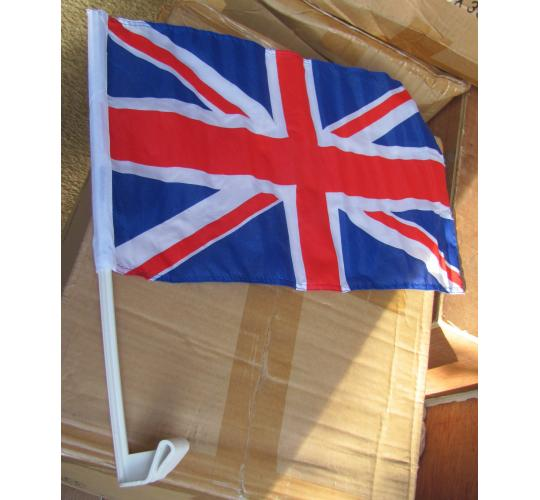 200 x Union Jack car Flags