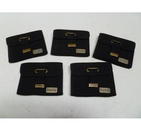 5 x Hurley TriFold Wallets - Black - New - RRP £32 Each
