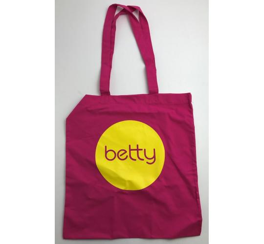 Wholesale Joblot of 50 Betty Pink/Yellow Tote Bag 14.5""