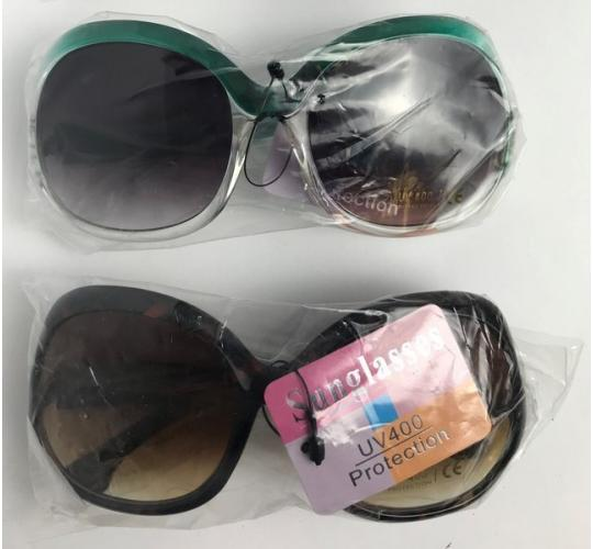 Wholesale Joblot of 20 Ladies Oversized Fashion Sunglasses in 2 Colours SG-189