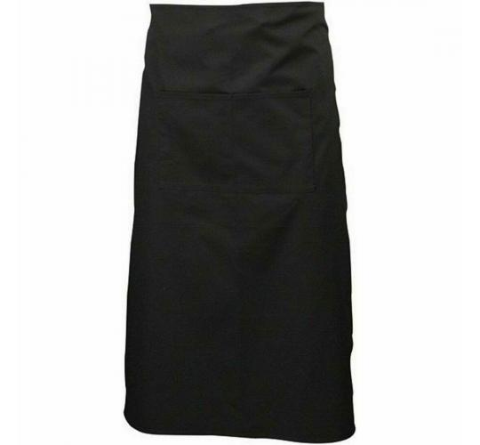 10 x Black waist chef catering apron 74 x 90cm no pocket PPED024 New