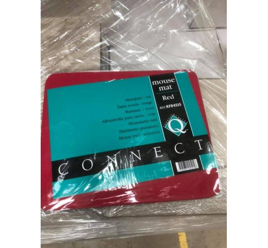 One Off Pallet of Approximately 2088 Q-connect Red Mouse Mats