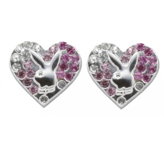 Playboy Gradient Heart Earings Platinum Plated PJE008