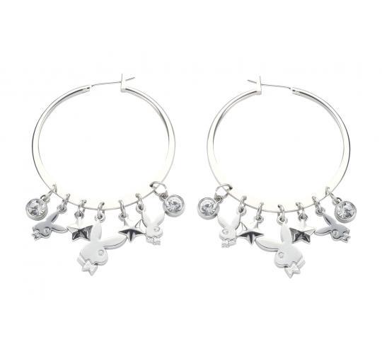 Playboy RHD/STAR Charm Earrings Platinum Plated PJE003