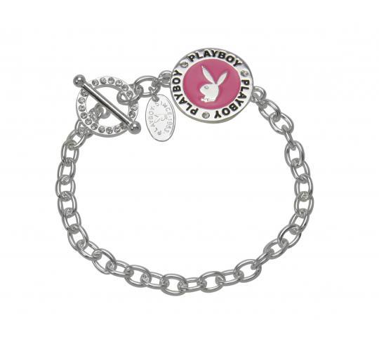 Playboy Enamel Bracelet Platinum Plated Pink CB2679