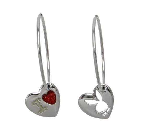 Playboy I Love PB Earrings Platinum Plated CE2859