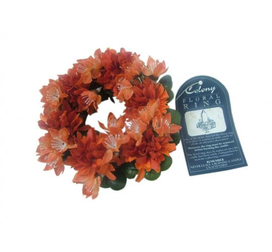 Joblot of 20 Colony Large Orange Flower Floral Rings
