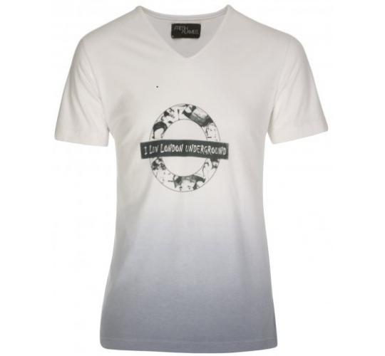 Joblot of 5 Fresh Flames White I Luv London T-shirts