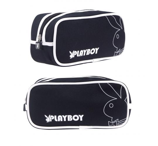 Joblot of 10 Playboy Basic range wash bag Black/White PA7733-BLK