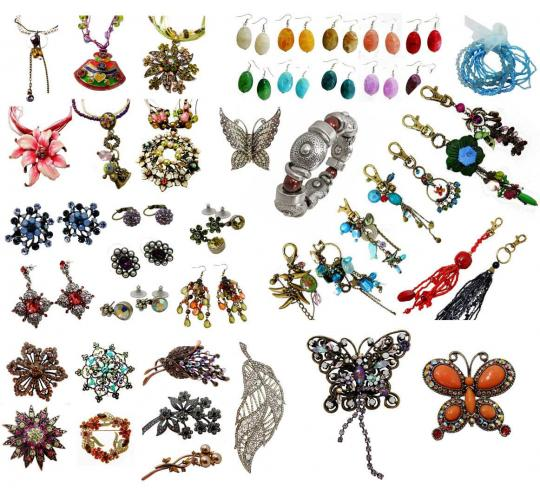 Joblot of 100 Mixed Costume Jewellery Items