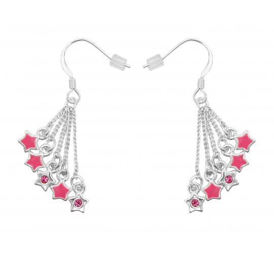 Joblot of 20 Hooch Pink Star Earrings (HCJ0004PK)