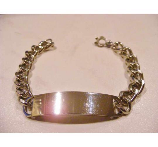 Wholesale Job lot of 500 Nickle Plate ID Bracelett