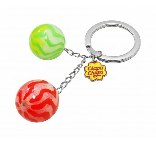 Joblot of 10 Red & Green Chupa Chups Keyrings