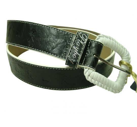 Wholesale Joblot Of 10 Plaited Buckle Playboy Ladies Belts (PL4301BLK)