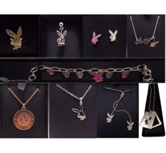 Wholesale Joblot Of 50 Playboy Jewellery Items Including Bracelets & Necklaces