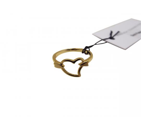 Wholesale Joblot Of 10 French Connection Arrow Through Heart Rings (SJAOO)