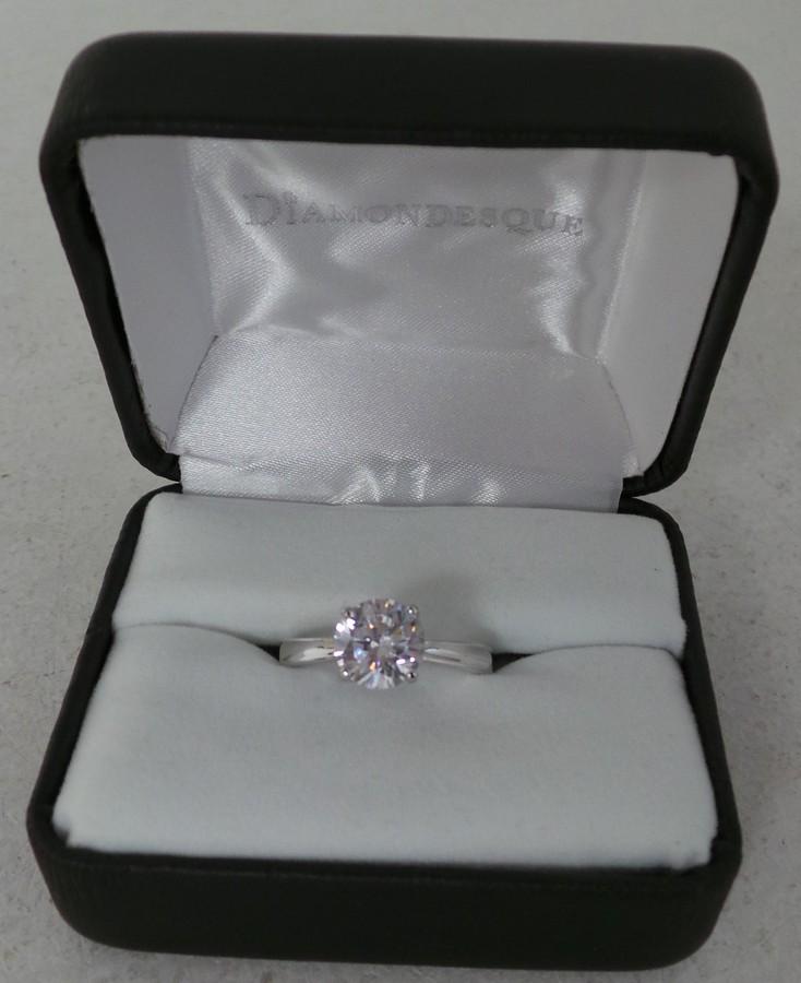 Wholesale Joblot of 10 Avon Womens Azura Diamondesque Silver Rings