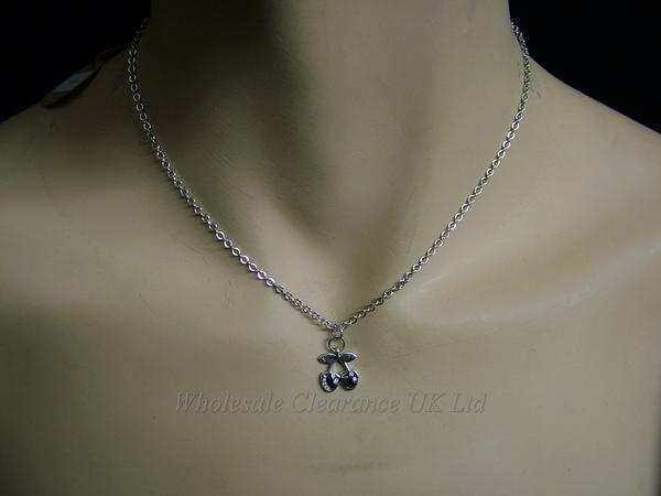 """10 Silver Plated 18/"""" Necklaces with Heart Pendants Wholesale Jewellery Job Lot"""