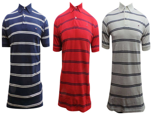 cdd66d30d Joblot of 10 Mens Tommy Hilfiger Striped Polo Shirts Mixed Colours