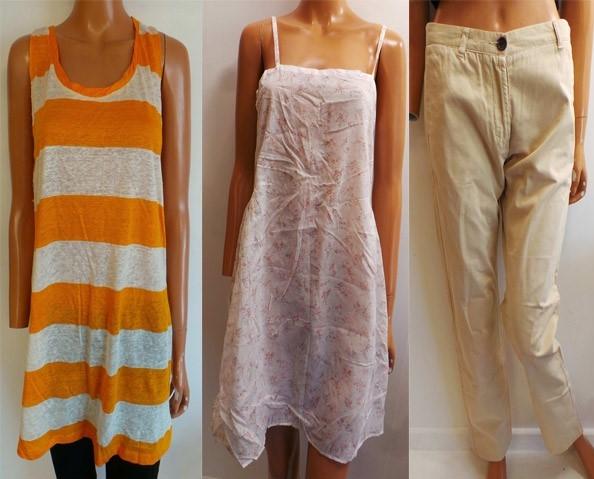 one joblot of 8 american vintage dresses tops