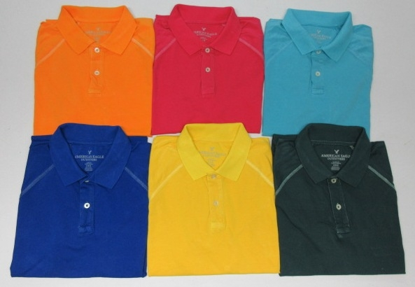 40212ce5 Wholesale Joblot of 50 American Eagle Outfitters Mens Polo Shirts