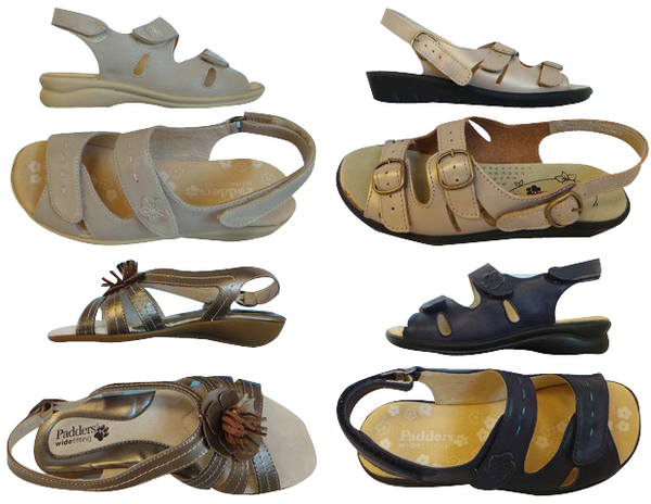 b97ee3beccef6 One Off Joblot of 9 Padders Ladies Sandals Various Styles & Sizes