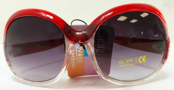 798a988af27 Wholesale Joblot Of 20 Hot Lips Square Red And Clear Sunglasses ...