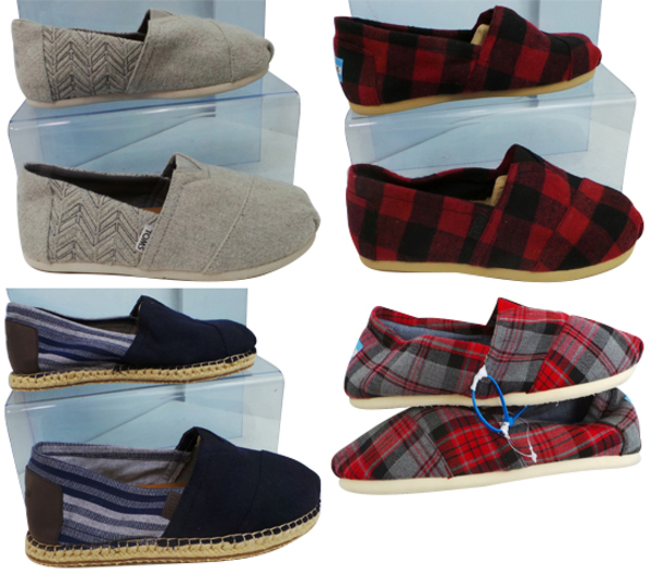 1f7796e934a One Off Joblot of 5 TOMS Mens Alpargatas 4 Styles Sizes 7.5-9