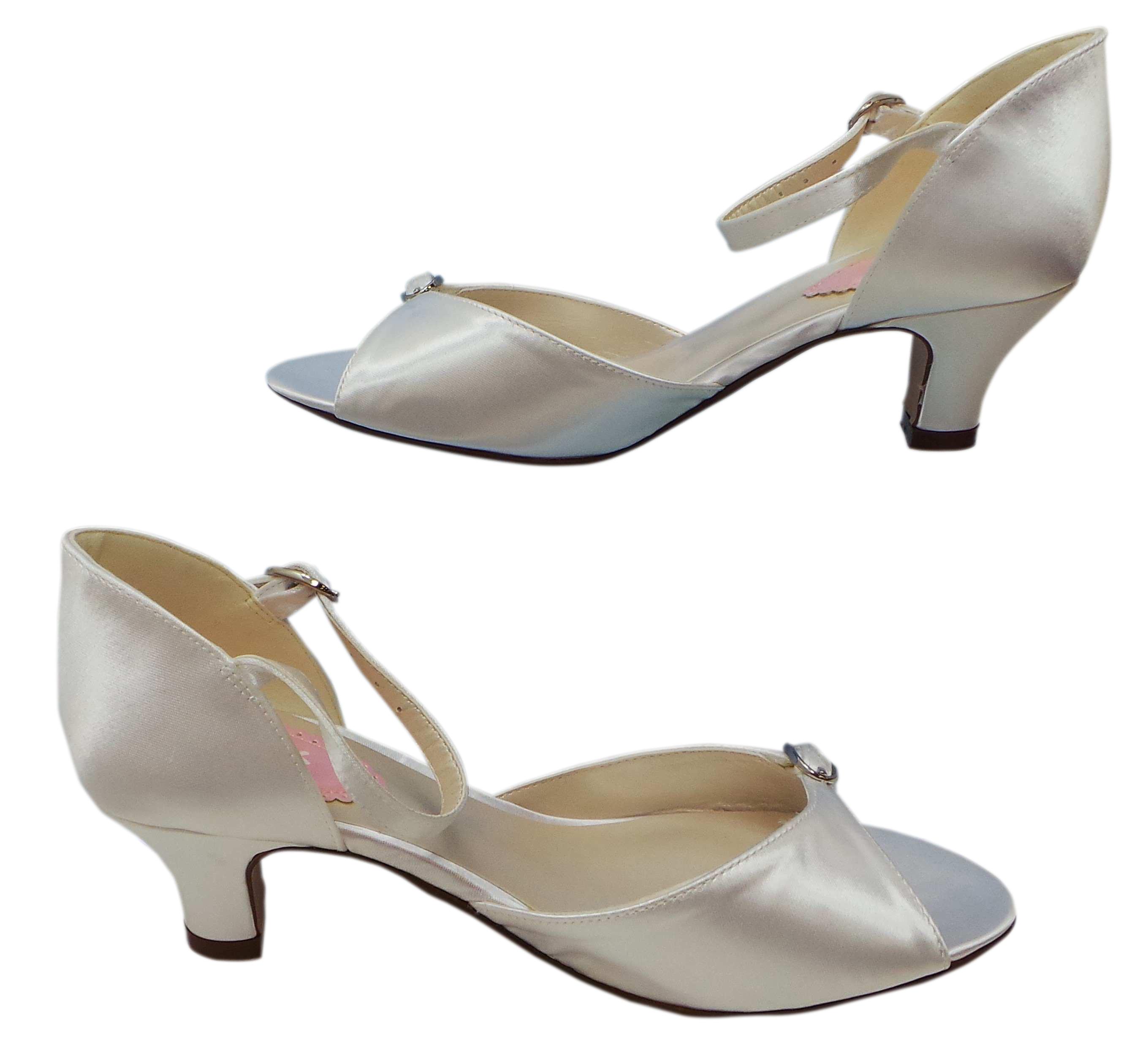 joblot of 10 paradox pink cherub white satin heeled