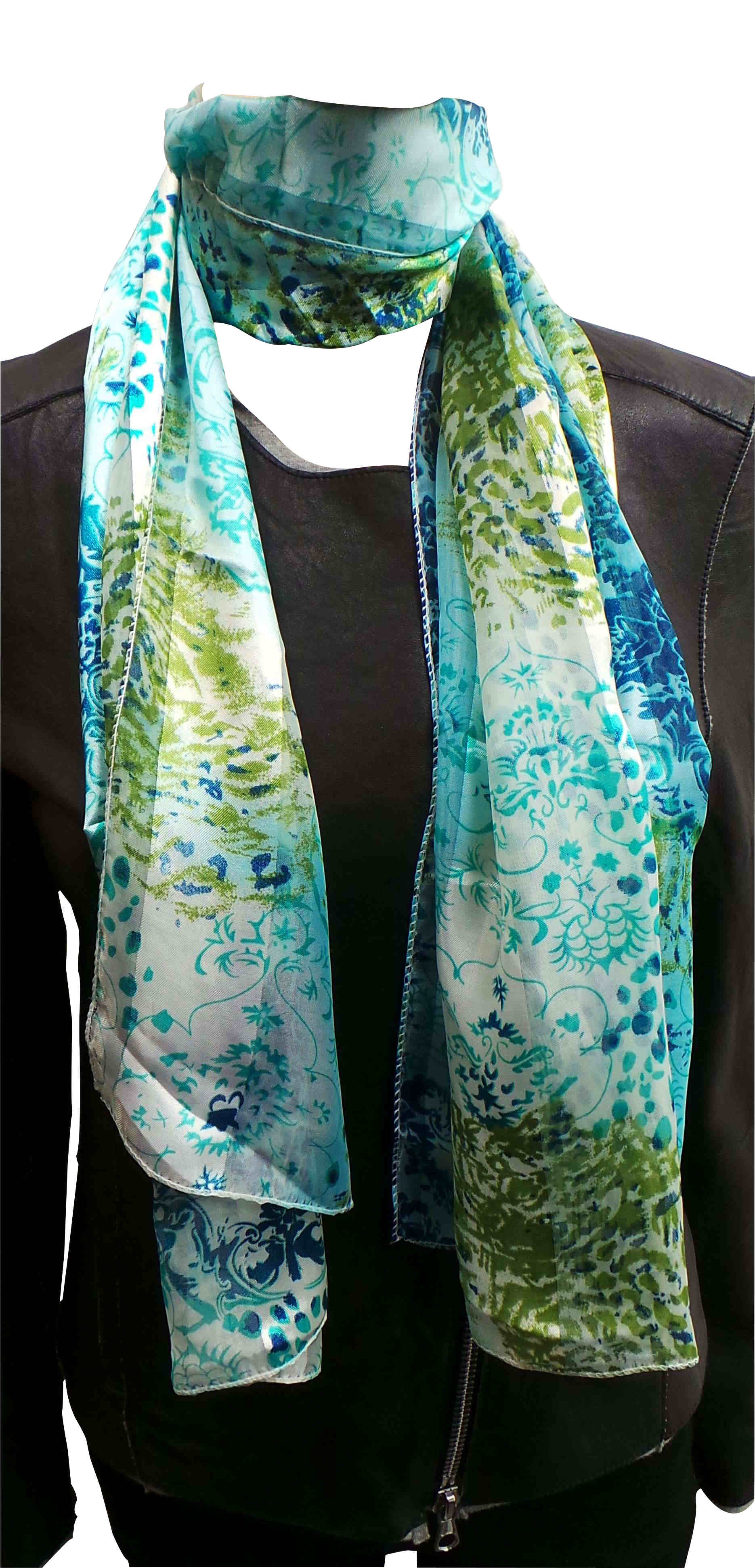wholesale joblot of 24 blue green patterned thin
