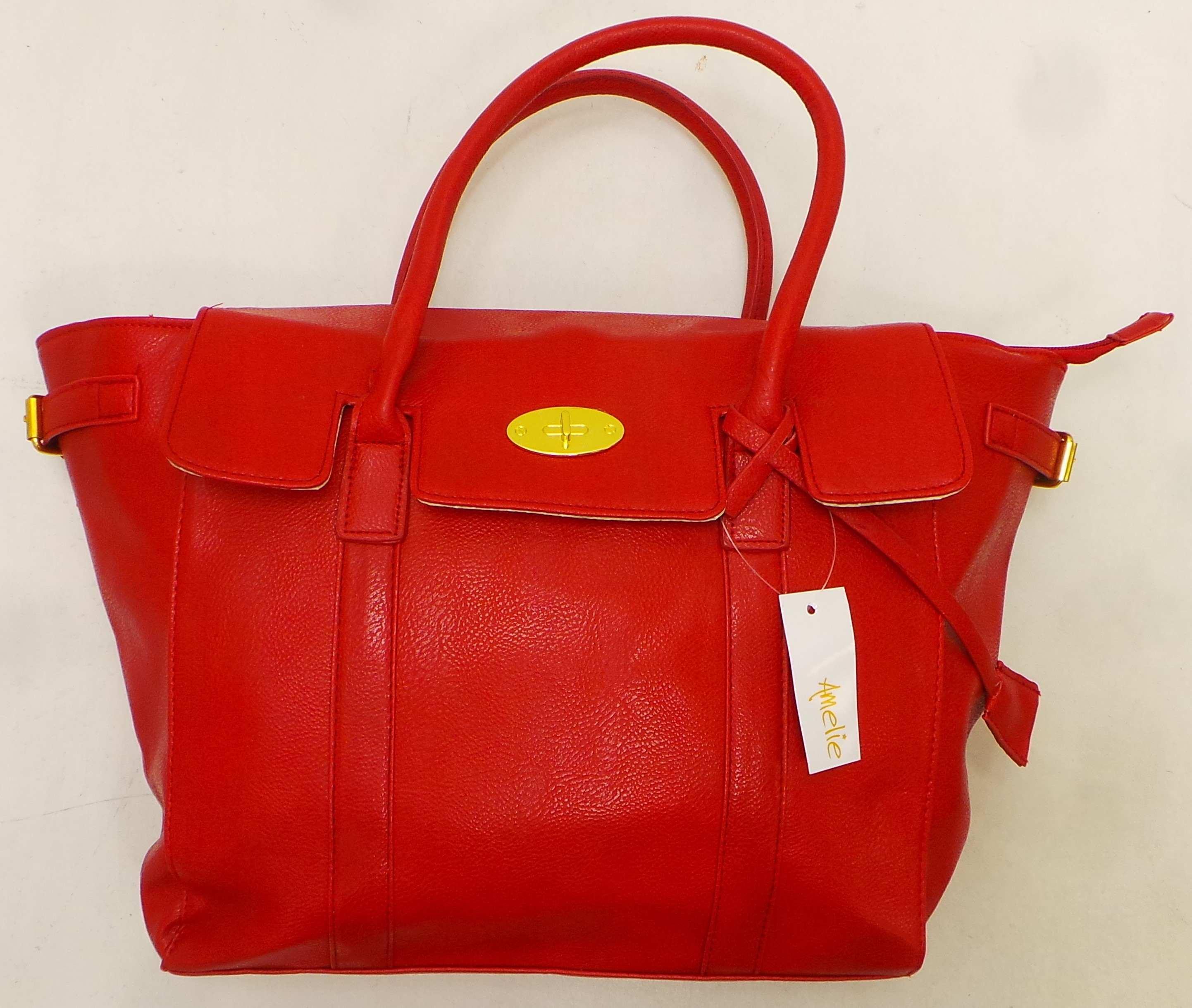Wholesale Joblot of 10 Amelie Ladies Red Handbags